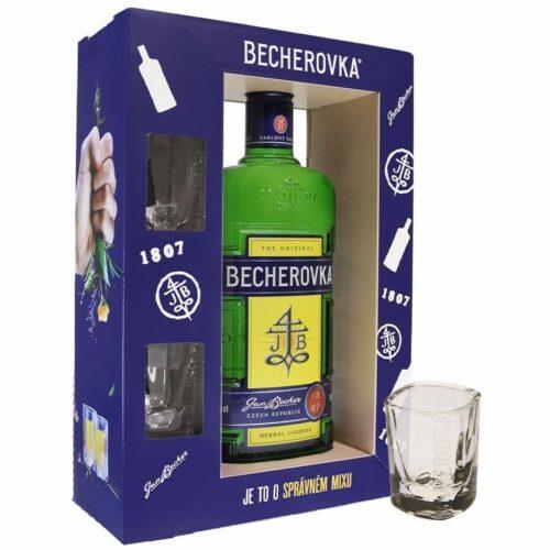 Becherovka + 2 skla 38% 0