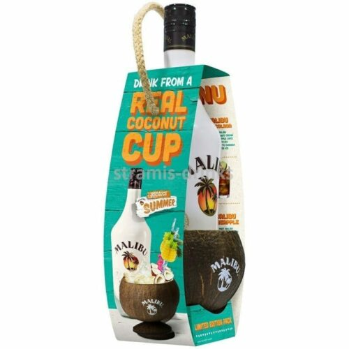 Malibu + kokosový pohár 21% 0