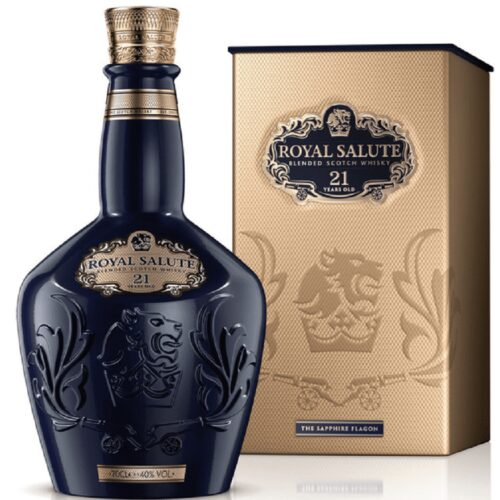 Royal Salute 21yo The Sapphire Flagon 40% 0