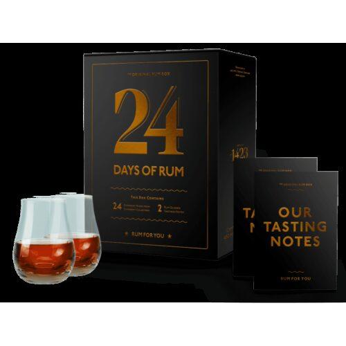 Rumový kalendář 2020 + 2 skleničky 24x20ml