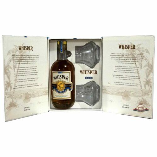 Whisper Antigua Gold + 2 skla 40% 0